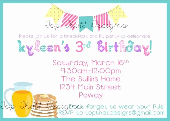 Pajama Party Invitations Free Printable Inspirational Pancakes and Pajama Party Invitation Printable