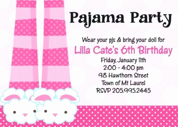 Pajama Party Invitations Free Printable New Beautiful Pajama Party Invitation Templates Collection Mericahotel