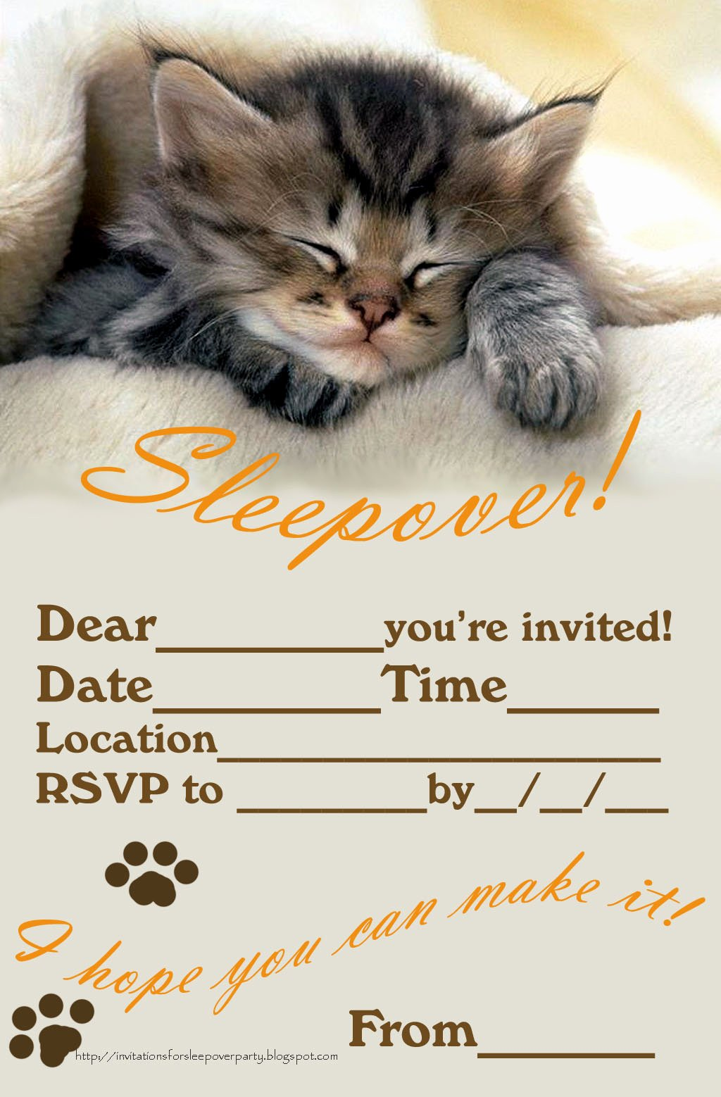 Pajama Party Invitations Free Printable Unique Invitations for Sleepover Party