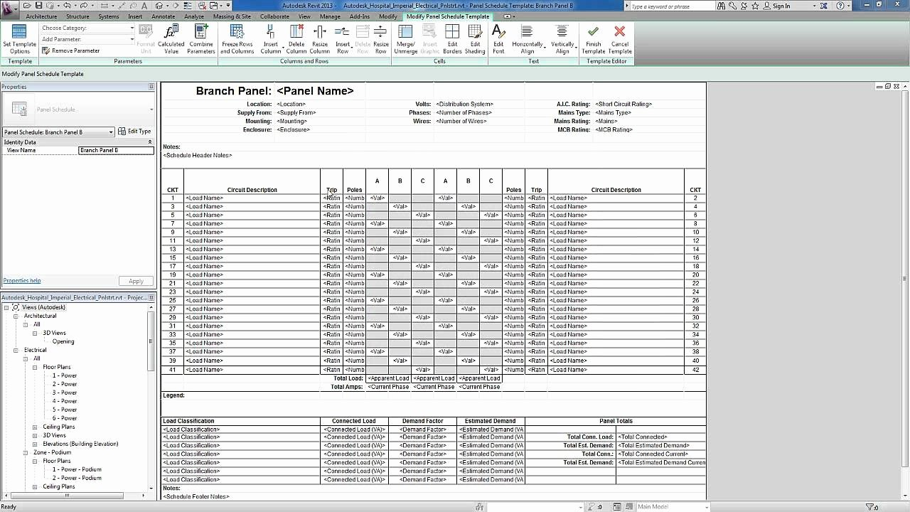 Panel Schedule Template Excel Lovely Revit for Mep Electrical Systems Panel Templates
