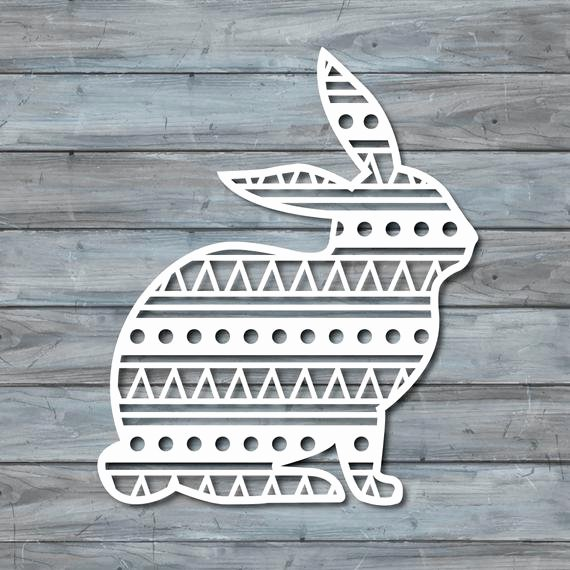 Paper Cut Out Templates Awesome Rabbit Paper Cut Template Pdf Printable Paper by Zavyanne8