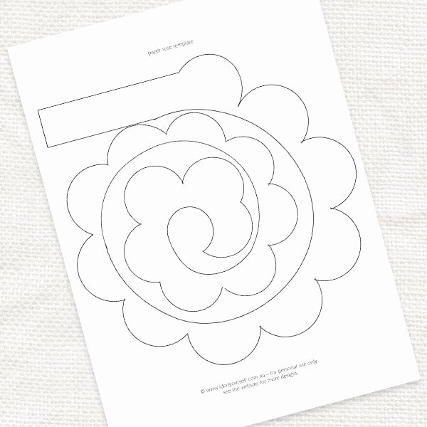 Paper Cut Out Templates Elegant Best S Of Rose Printable Template Paper Rose Template Pattern Rose Cut Out Template and