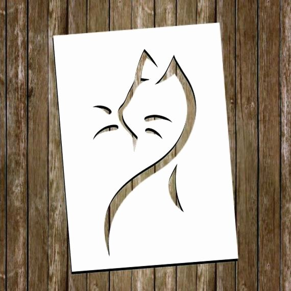 Paper Cut Out Templates Elegant Cat Paper Cutting Template Cat Papercut Cat Cut Out Cat