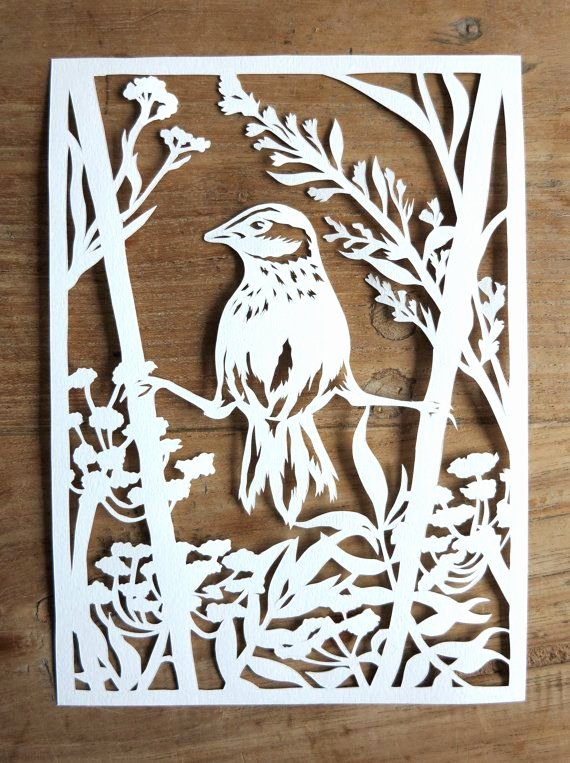 Paper Cut Out Templates Elegant original Handmade Papercut Of Bird In Winter by Whisperingpaper Scherenschnitte