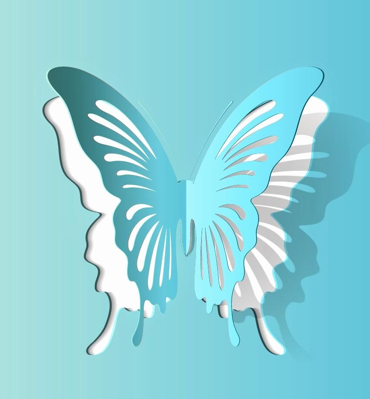 Paper Cut Out Templates Inspirational butterfly Paper Cutting Vector 2 1000vectors Printable Paper