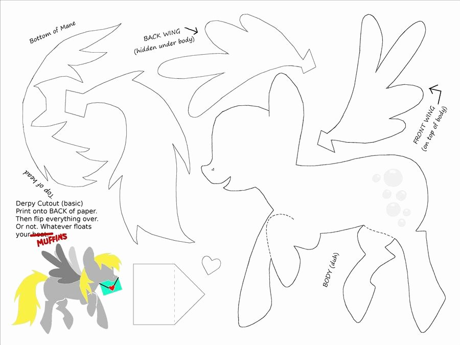 Paper Cut Out Templates Inspirational Derpy Cut Out Template for Paper Art by Plaidsandstripes On Deviantart