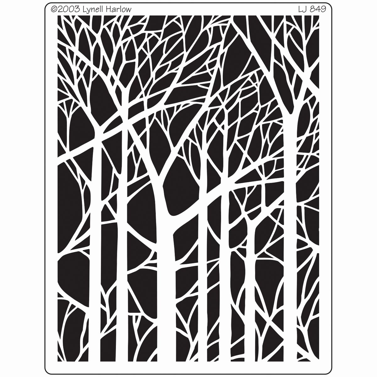 "Paper Cut Outs Templates Elegant Dreamweaver Metal Stencil 4""x6 75"" Bare Trees to Enlarge"