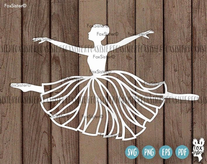 Paper Cut Outs Templates Inspirational Ballerina Svg Papercut Template Ballet Dancer Svg Cut File Dancing Svg