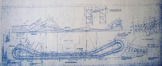 Paper Roller Coaster Blueprints Inspirational Crystal Beach Rollercoaster Blueprint by Blueprintplace On