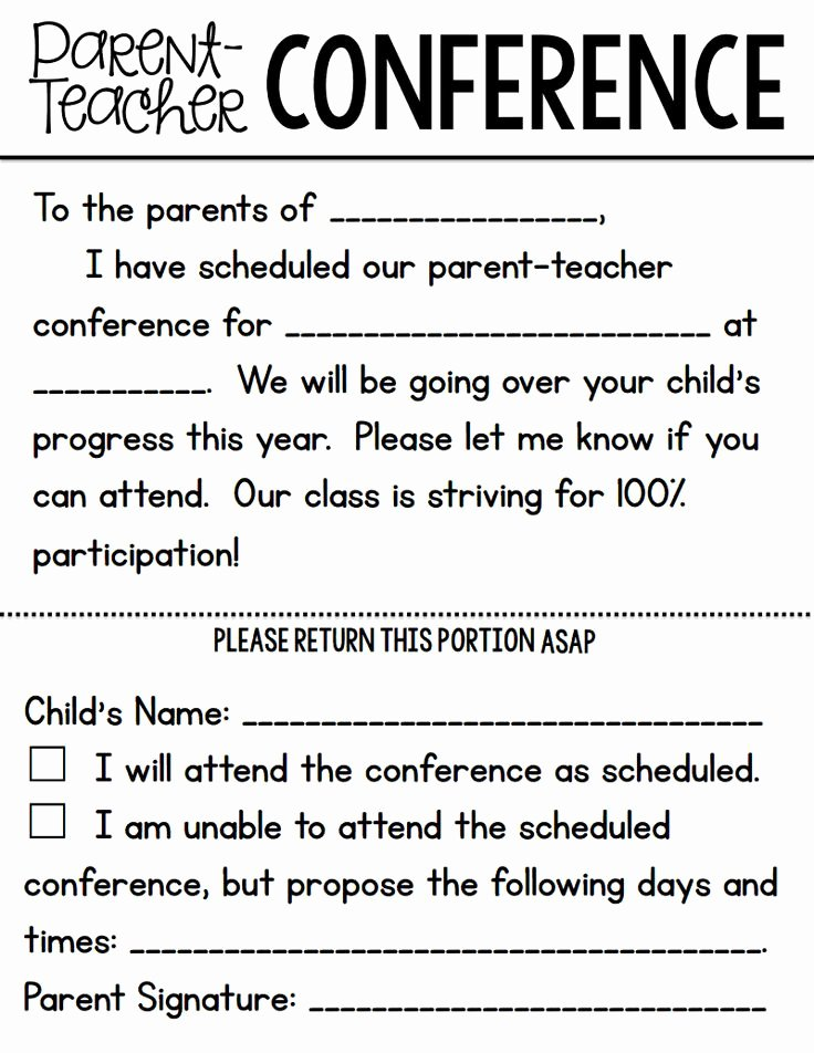 Parent Teacher Conference form Pdf Inspirational Parent Teacher Conference forms From A Teachable Teacher Pdf Class