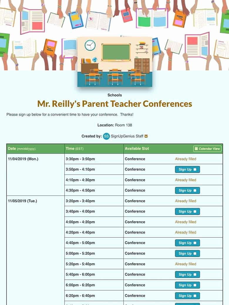 Parent Teacher Conference Request form Best Of Parents Requesting Teachers Sample