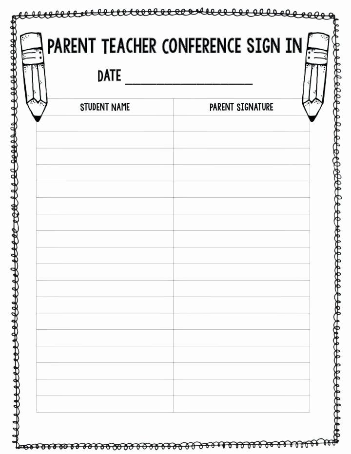 Parent Teacher Conference Schedule Template Lovely Parent Sign Up Sheet Template – Georginaedwards