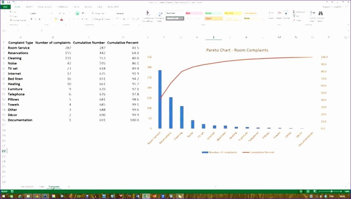 Pareto Chart Excel Template Fresh 7 Pareto Chart Template Excel 2010 Exceltemplates Exceltemplates
