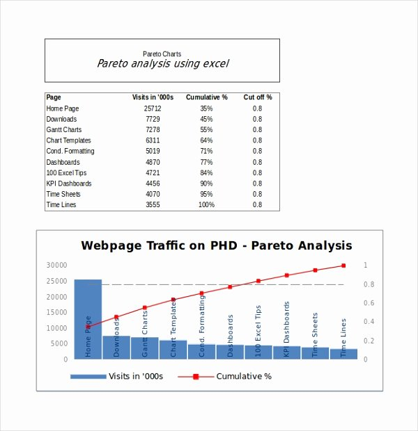Pareto Chart Excel Template Fresh 8 Pareto Chart Templates Free Sample Example format