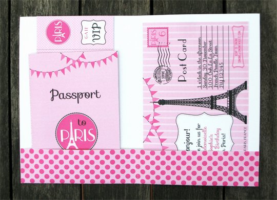 Paris Passport Invitation Template Beautiful Birthday Party In Paris Invitations & Printable Collection