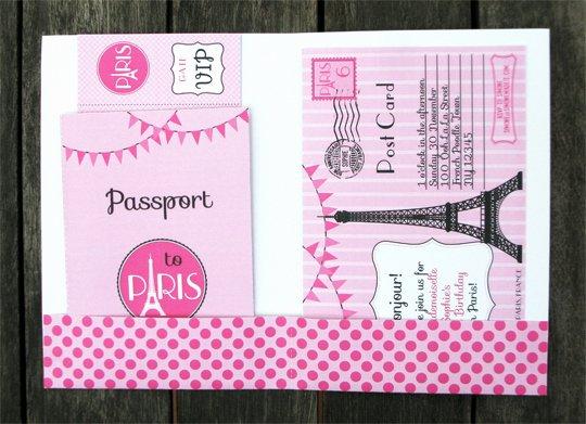 Paris Passport Invitation Template Beautiful Birthday Party In Paris Invitations & Printable Collection