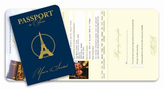 Paris Passport Invitation Template Beautiful Passport Invitations