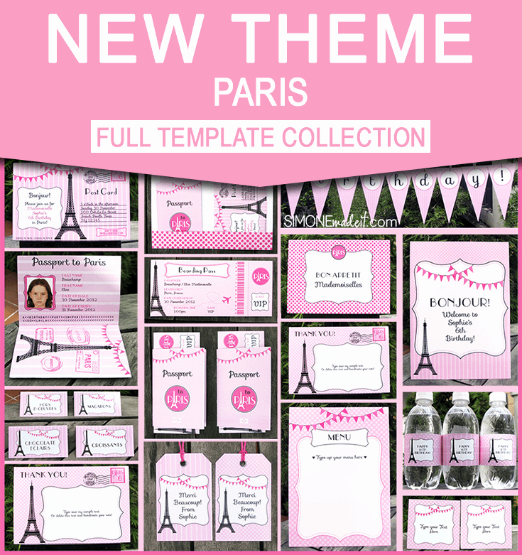Paris Passport Invitation Template Best Of Birthday Party In Paris Invitations & Printable Collection