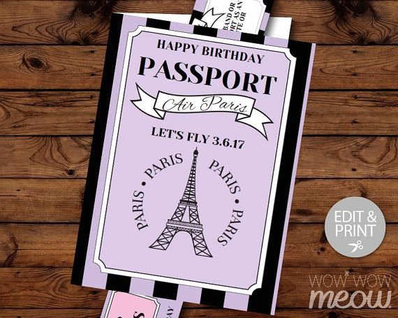 Paris Passport Invitation Template Inspirational 9 Best Prom Passport to Paris Images On Pinterest