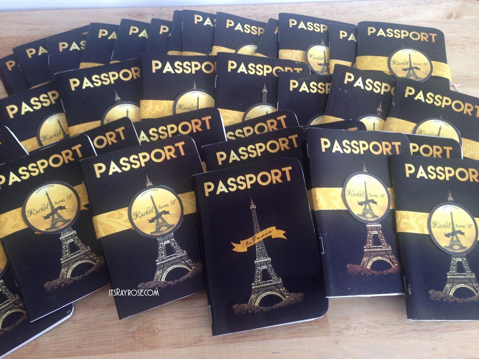 Paris Passport Invitation Template Inspirational Invitation Paris Black Passport