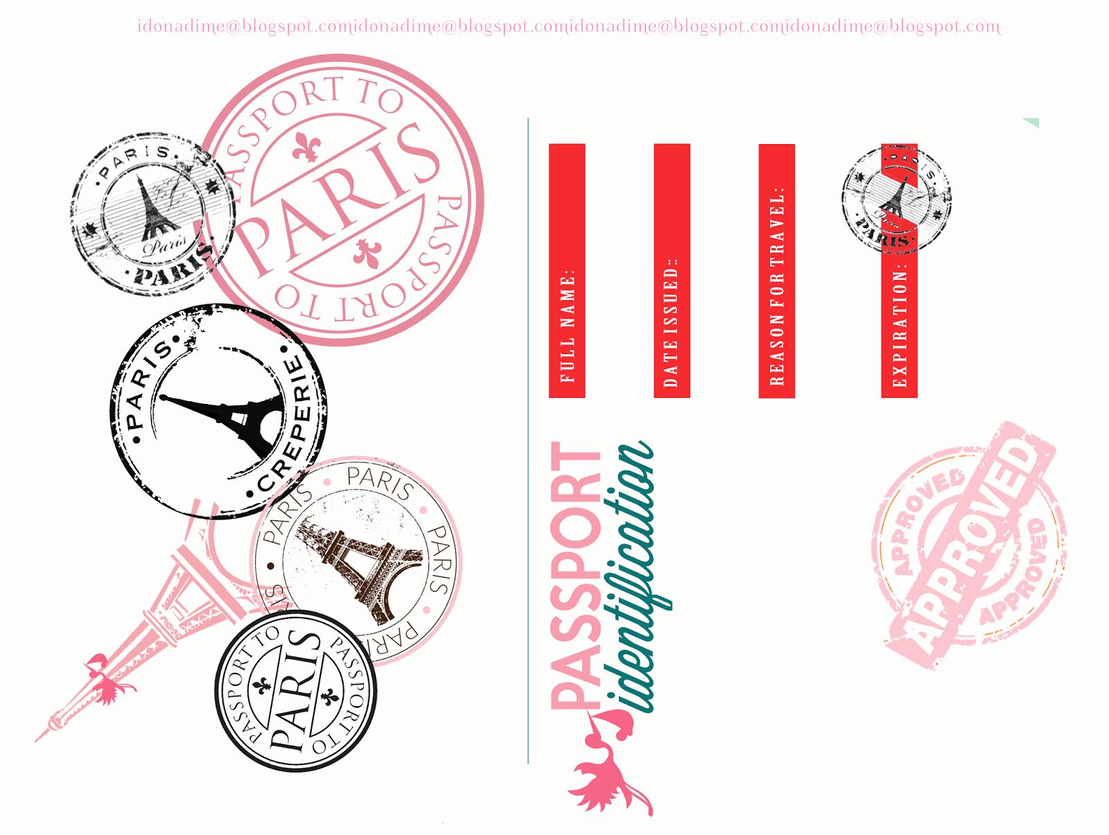 Paris Passport Invitation Template Lovely I Do A Dime Free Paris Baby Shower Passport Invites