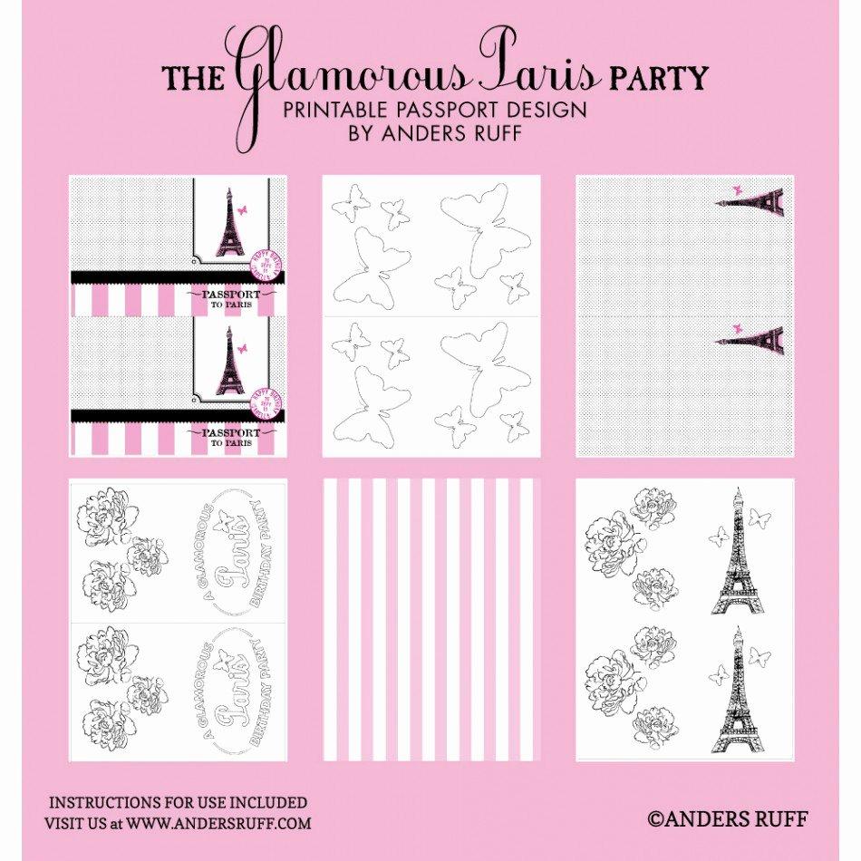 Paris Passport Invitation Template Luxury Passport Party Invitations