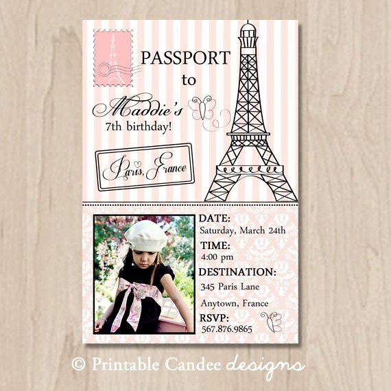 Paris Passport Invitation Template New Unavailable Listing On Etsy