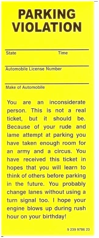 Parking Ticket Template Word Beautiful Parking Violation Template