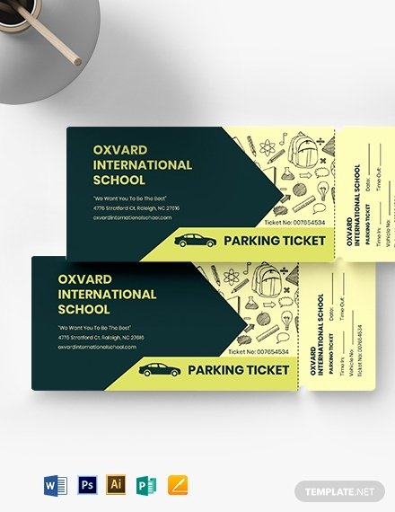 Parking Ticket Template Word Fresh 10 School Ticket Templates Illustrator Indesign Ms Word Pages Shop Publisher