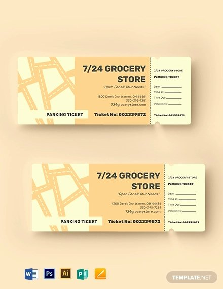 Parking Ticket Template Word Fresh 12 Parking Ticket Examples & Templates [download now]