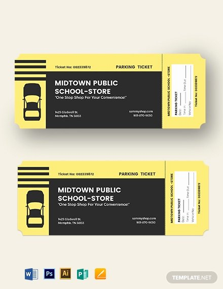 Parking Ticket Template Word Luxury Printable Parking Ticket Template Word Psd Apple Pages Publisher