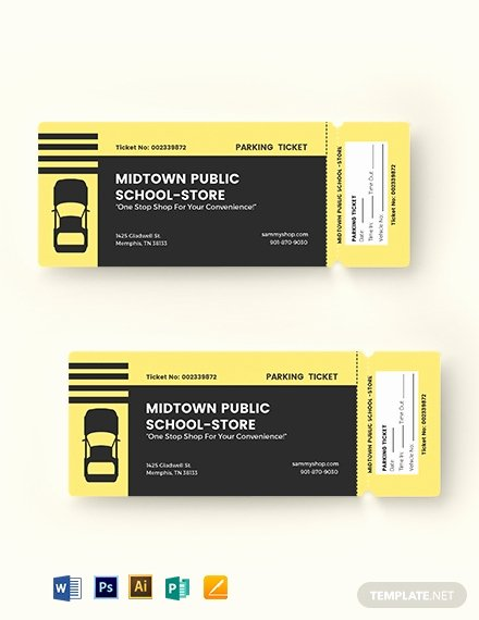 Parking Ticket Template Word Unique 9 Parking Ticket Templates Ai Psd Ms Word Publisher Pages