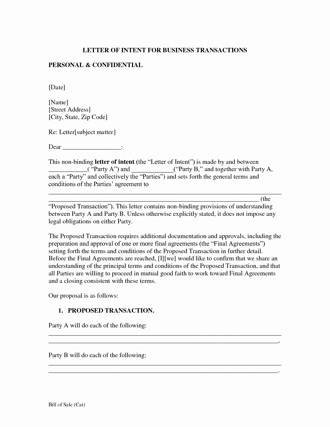 Partnership Letter Of Intent Lovely How to Write A Letter Intent for Business Partnership