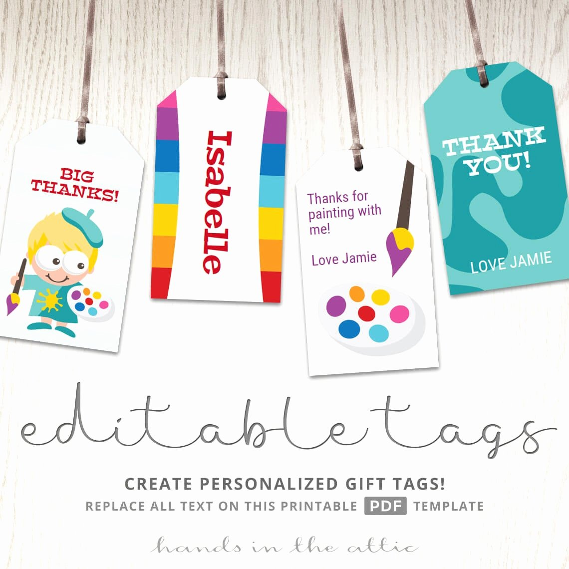 Party Favor Tags Template Best Of Art Party Printables Homemade T Tags Personalized Diy