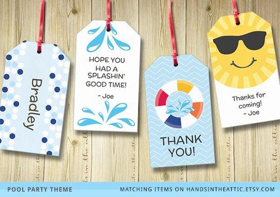 Party Favor Tags Template Fresh Editable T Tags T Tag Template Favor Tags by