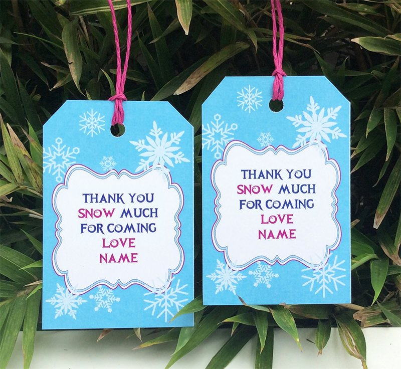 Party Favor Tags Template Luxury Frozen Birthday Party Printable Templates