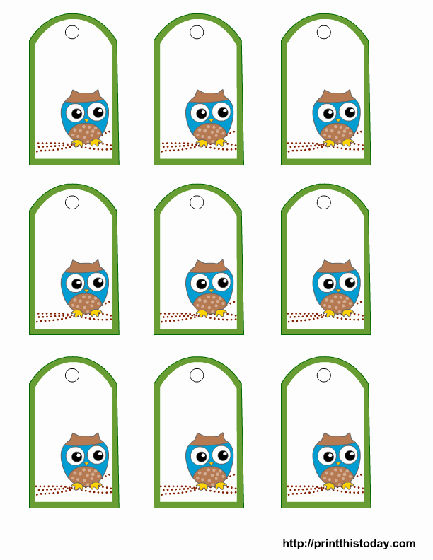 Party Favor Tags Template New Free Owl Baby Shower Favor Tags Templates