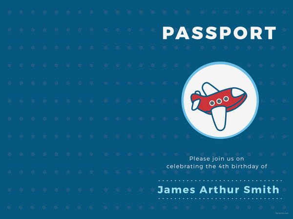 Passport Invitation Template Free Awesome 16 Passport Invitation Templates Free Sample Example