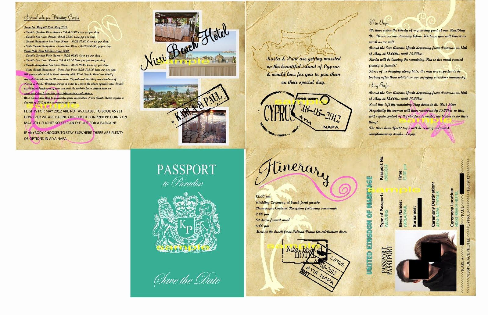 Passport Invitation Template Free Best Of Passport Birthday Invitation Templates