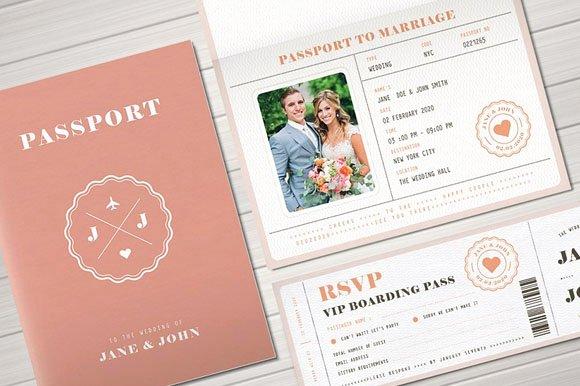 Passport Invitation Template Free Best Of Passport Wedding Invitation Templates 15 Free Psd