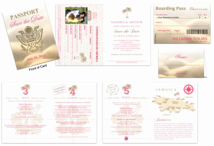 Passport Invitation Template Free Fresh Passport 30 Wedding Save the Date Custom Passport