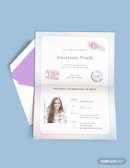 Passport Invitation Template Free Inspirational Free Boho Debut Invitation Template Download 517