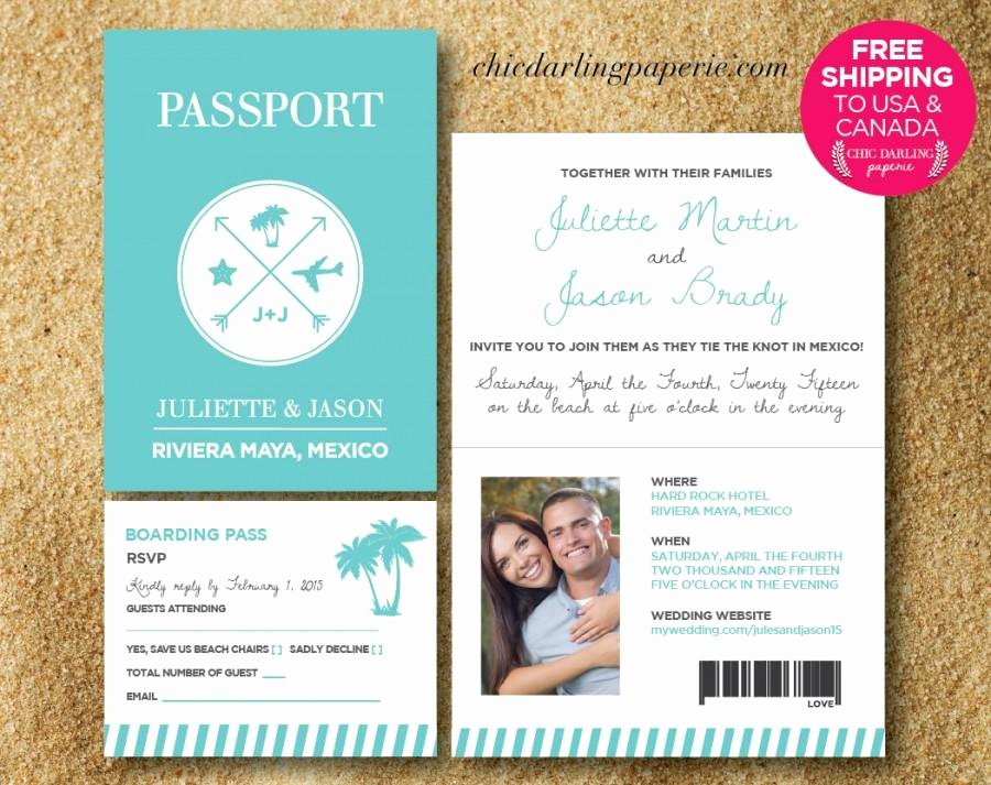 Passport Invitation Template Free Inspirational Free Shipping Printed Digital Passport Wedding