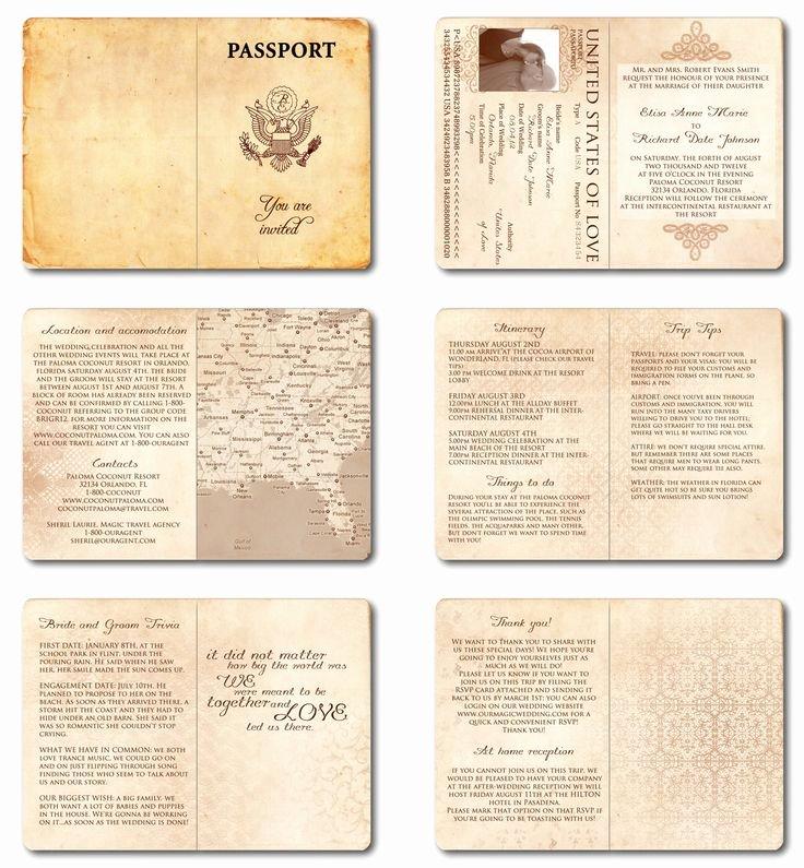 Passport Invitation Template Free Luxury Best 25 Passport Wedding Invitations Ideas On Pinterest