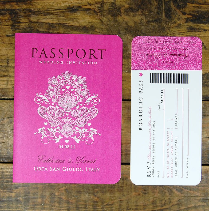 Passport Invitation Template Free New Passport to Love Booklet Travel Wedding Invitation by