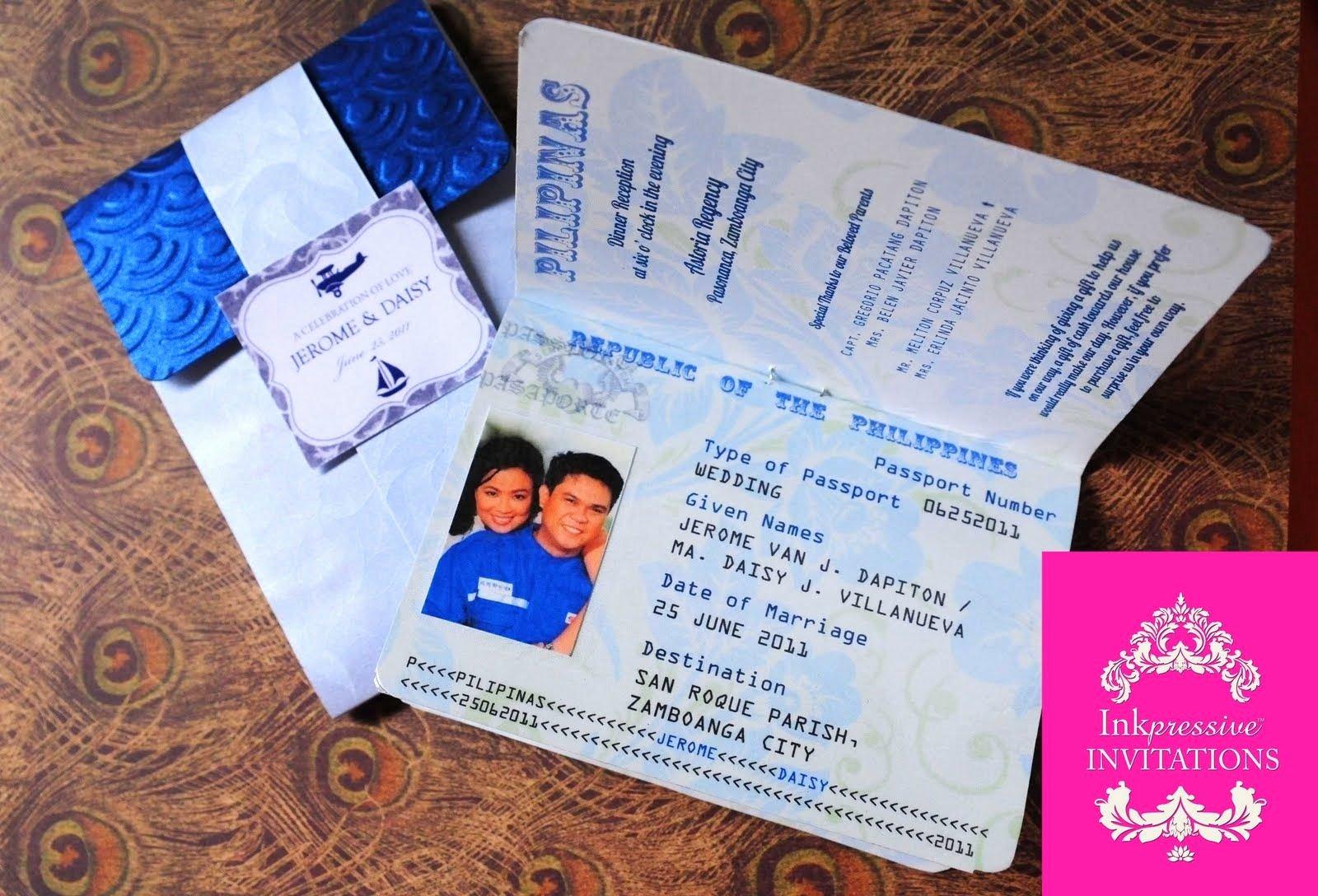 Passport Invitation Template Free New Passport Wedding Invitations Template