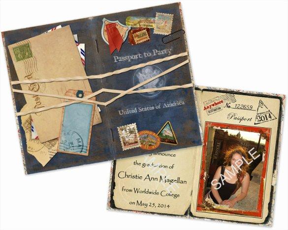 Passport Invitation Template Free Unique 17 Passport Invitation Templates Free Sample Example