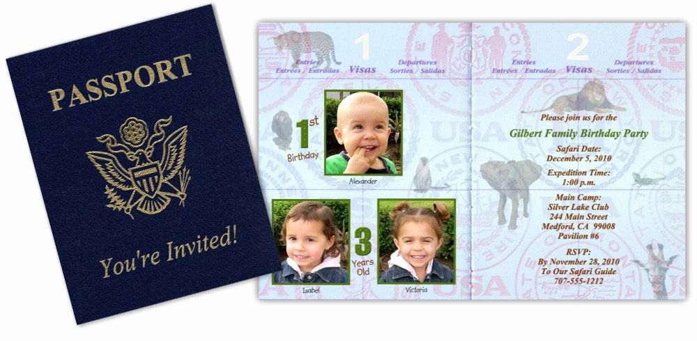 Passport Invitation Template Free Unique Passport 7 Safari Passport Invitation 1 Custom Passport