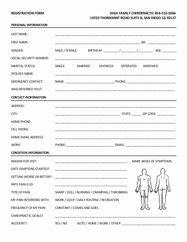 Patient Intake form Pdf Elegant New Patient forms