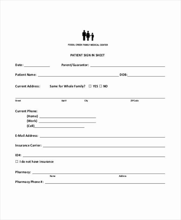 Patient Sign In Sheet Unique 45 Printable Sheet Samples & Templates Pdf Doc